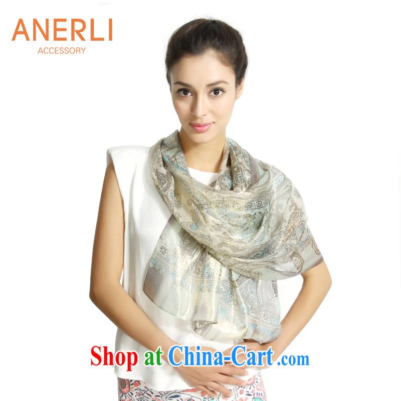 ANERLI, the new silk scarf female 100_ sauna silk silk scarf shawl AQA - 12 - 143 blue