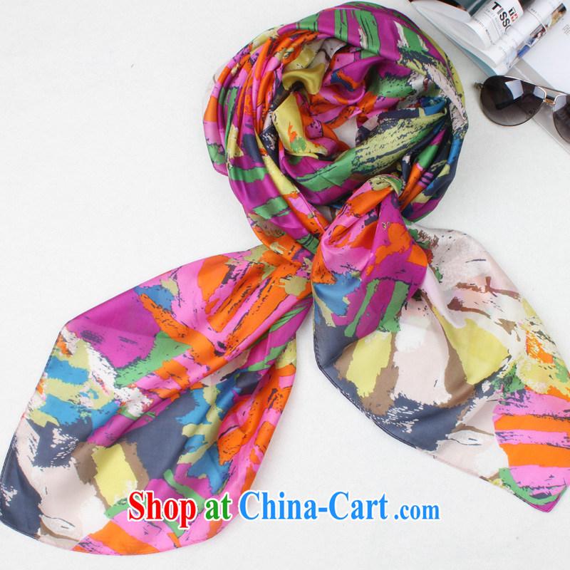 Only quarter (VANSIE) 2014 winter new 100% sauna silk silk ocean woven Leopard ladies silk scarf silk scarf shawl graffiti impression Rainbow