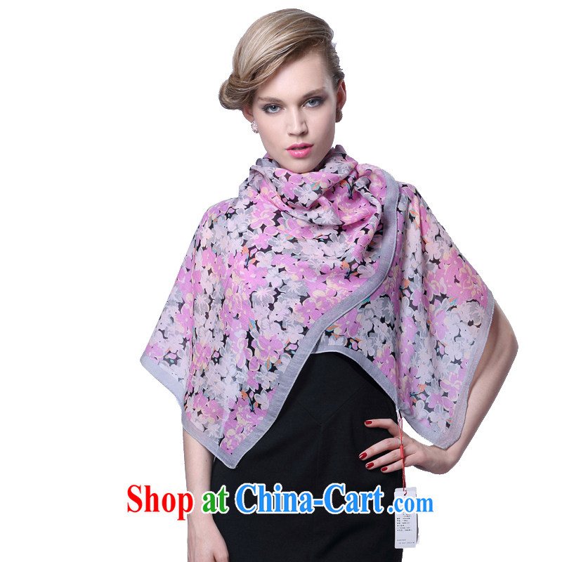 HANG SENG Yuen Cheung-wool silk scarf, Ms. Hill spent dancing _gift boxed_ gray purple