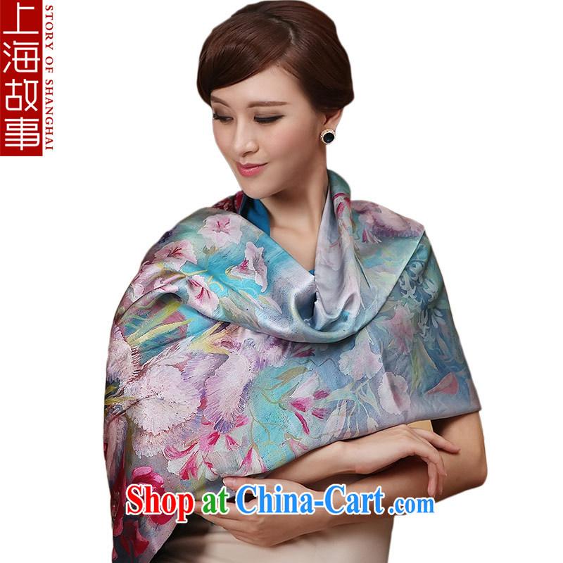 Shanghai Story thriving pure silk silk scarf-Gangnam-gu.