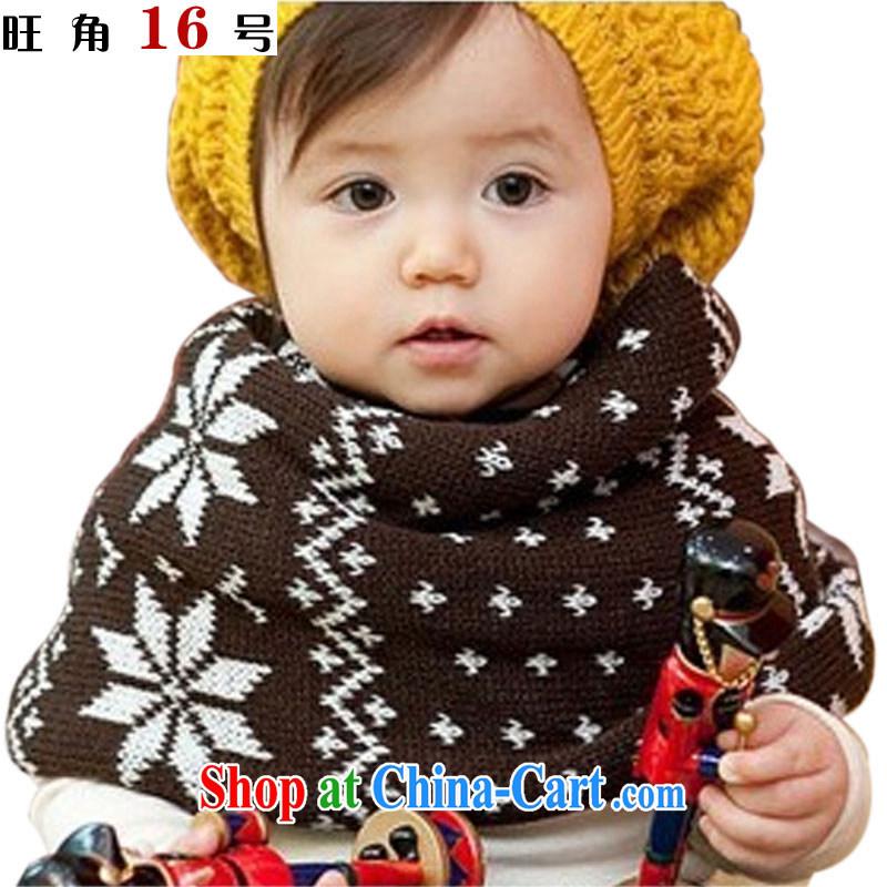 Mong Kok 16 children warm snowflake scarf also set ETWB - 12 - 902 coffee