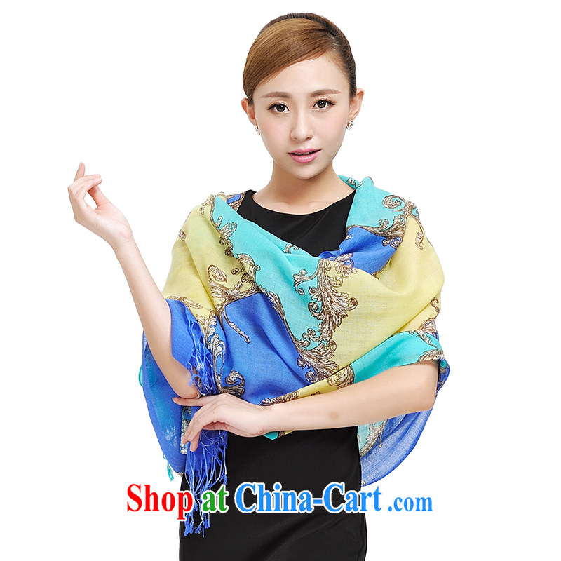 Today's story winter Shanghai love happy tree 100% wool scarves warm shawls 174,044 dream Palace blue