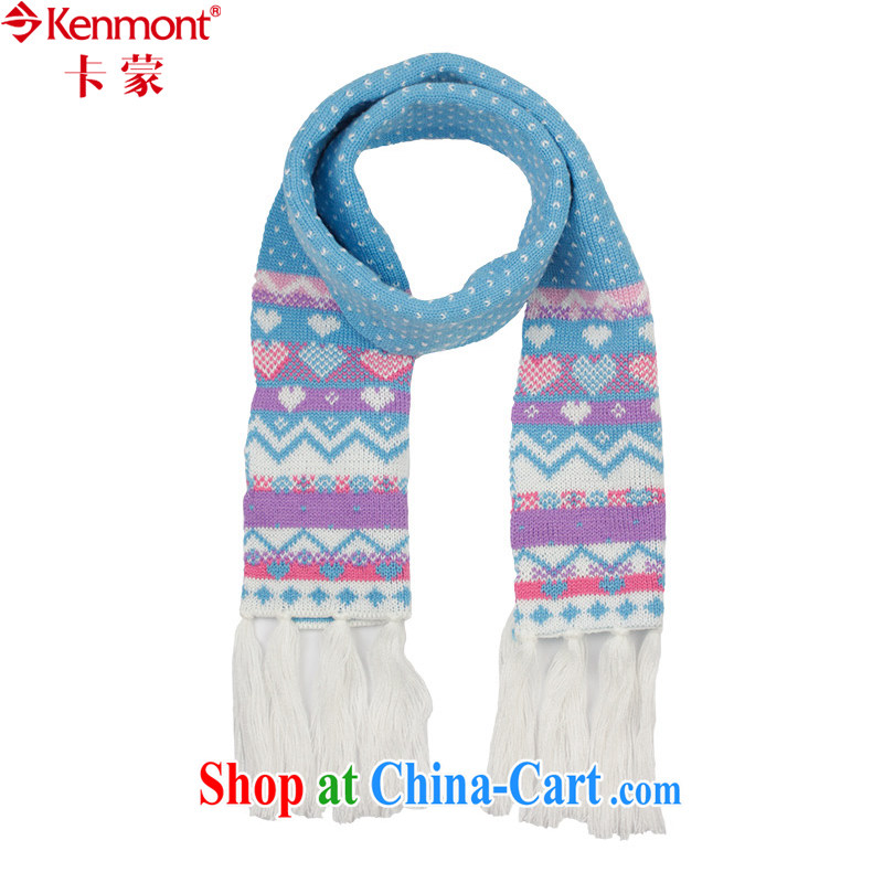 (kenmont) children's scarf warm, autumn and winter National wind the wool Knitted Scarf KM - 5983 white