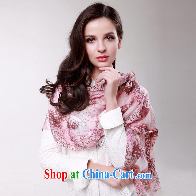 The autumn season winter Korean 100_ cashmere leopard print long scarf shawl high-end gift scarves powder snow leopard