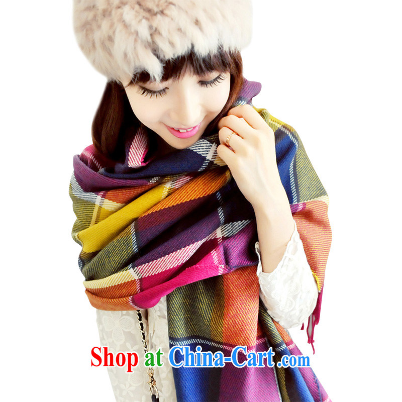 Nam-soo, bilingual L _A 2015 new autumn and winter the cashmere scarf large, air-conditioned shawl scarf with two 102 RP L