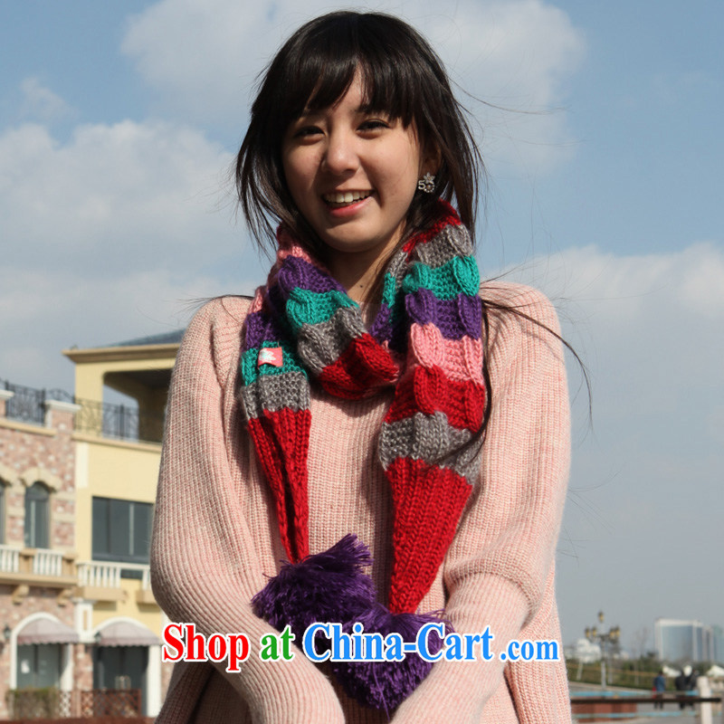 PSstyle winter female long thick large scarf flag pink 220