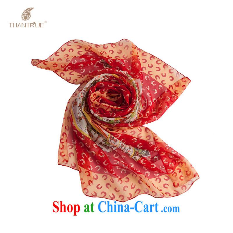Spring, really enjoy a silk scarf, spring and summer 100% sauna silk Jammu Jammu the yarn silk scarf A 002 large red