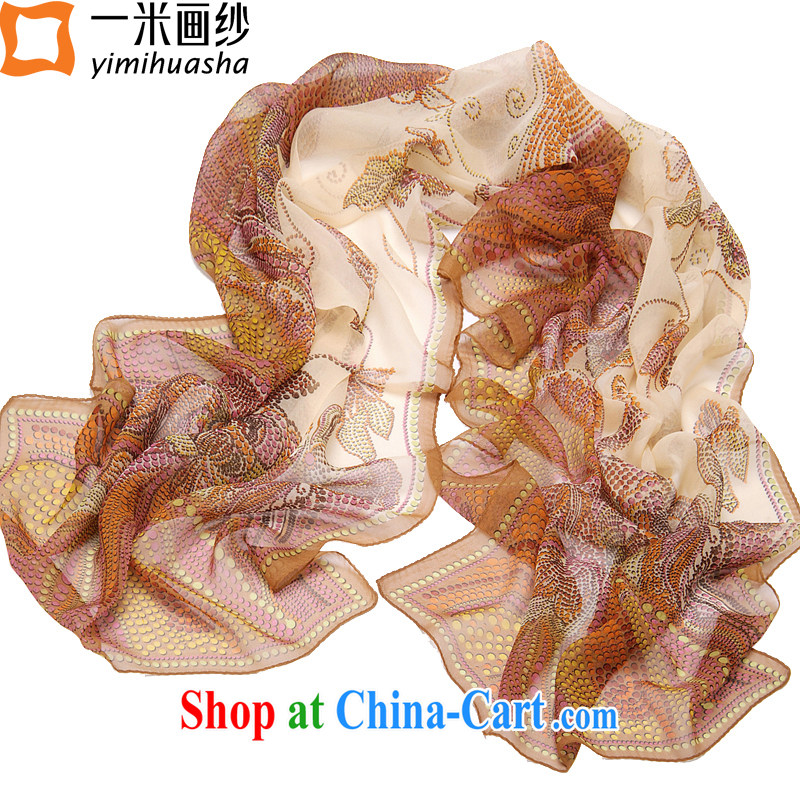 A one-meter animation yarn spring new Silk muslin square sauna silk scarf long scarf, Ms. No. 2 color