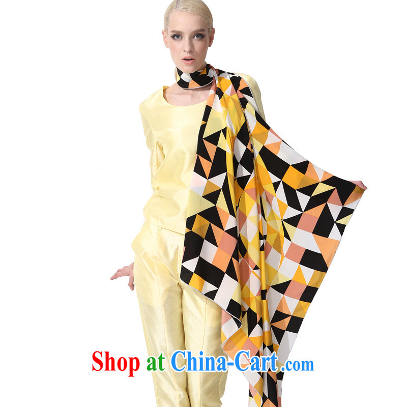Gemstone butterfly BAOSHIDI silk scarf dos santos Ms. silk scarf is very classy and spring and summer New Silk scarves Scarves/fun flow 1 color