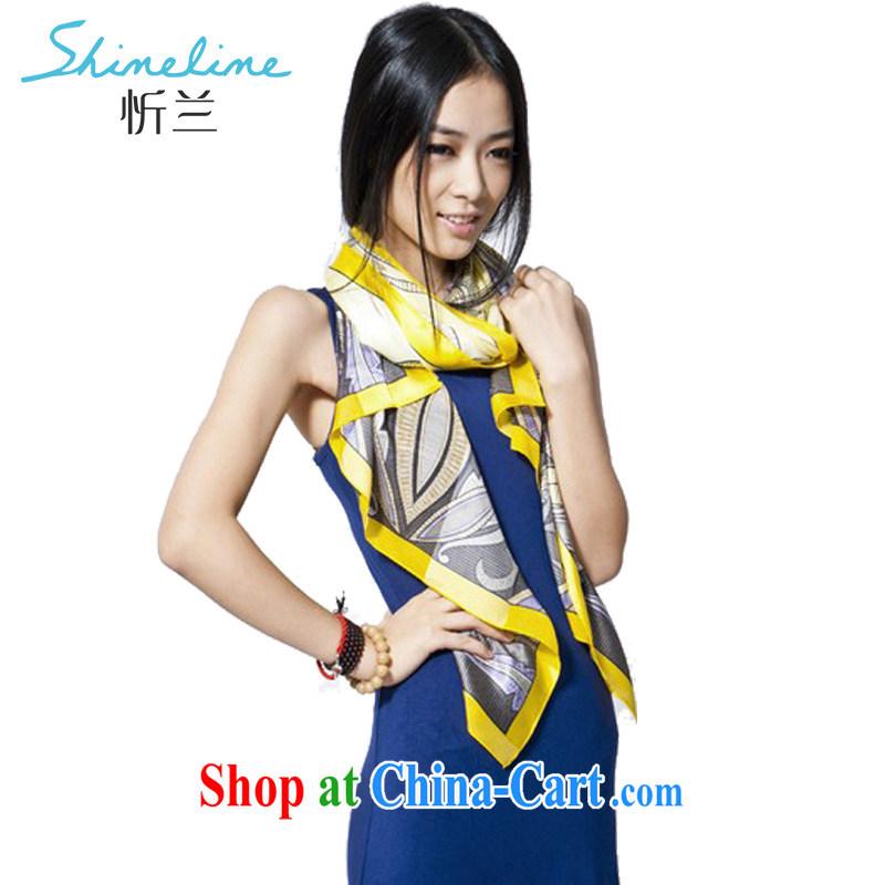 Central America scarf, silk, silk scarf 100 % sauna silk long scarf of Yuan GE totem legend yellow 1