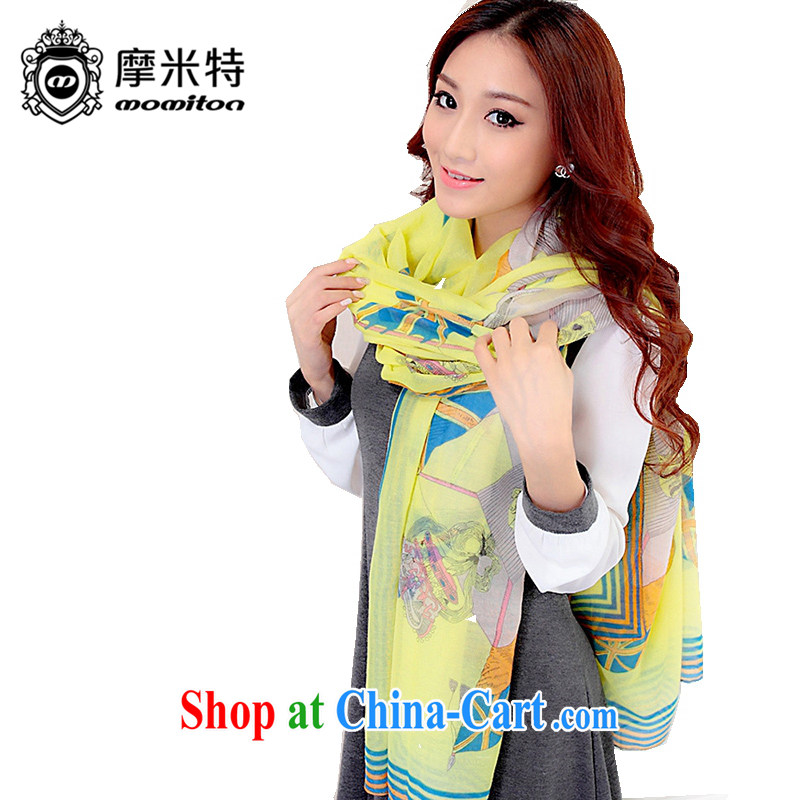 Moses M ad MOMITON autumn female Navy m flag Bali yarn scarf shawl yellow are code