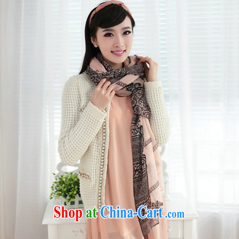 Bali yarn stamp lace ultra-long spring Korean scarf WSJ 131,005 toner color code