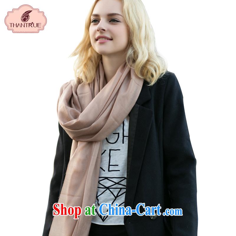 Thantrue really enjoy american woolen scarf autumn and winter warm long scarf, Solid Color Flow, silk scarf W 103 light brown
