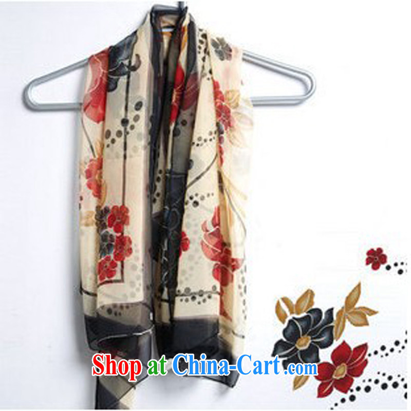 Korea wo take the fairies shawl scarf ultra-classy scarf silk scarf 110 * 110 CM black bonus spend
