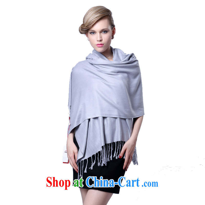 HANG SENG Yuen Cheung-cashmere texture, scarves shawls the autumn and winter air conditioning shawl scarf gift red _gift boxed_ gray