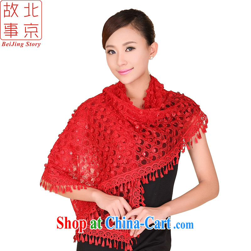 Beijing story bright star fashion, scarves, debris blossoms silk scarves 158,072 red
