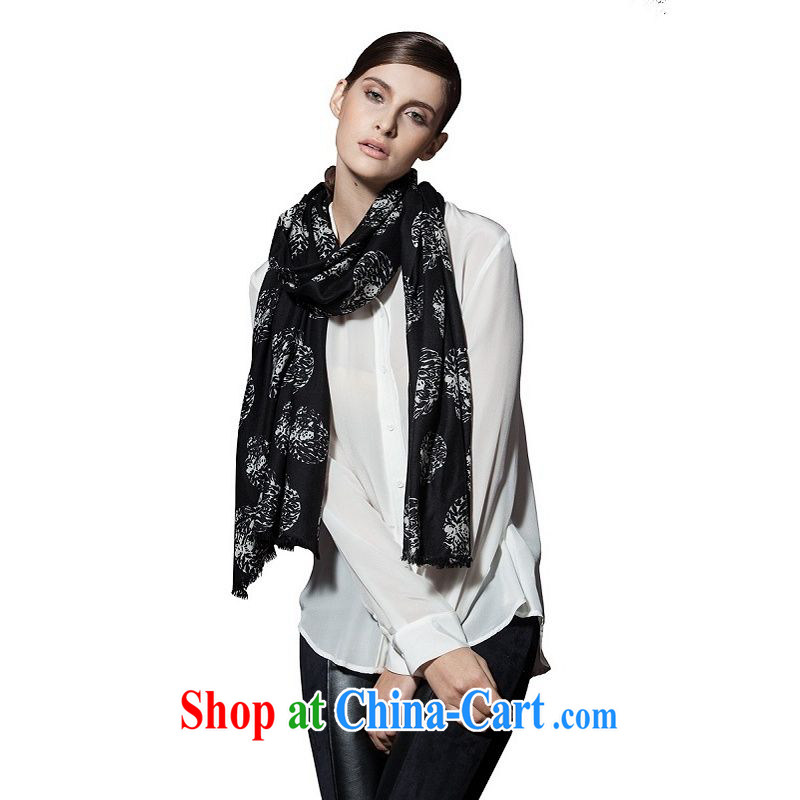 I should be grateful if you would arrange early Trueher 2013 autumn and winter, new scarf Ms. stamp duty 200 ultra-thin wool scarf black