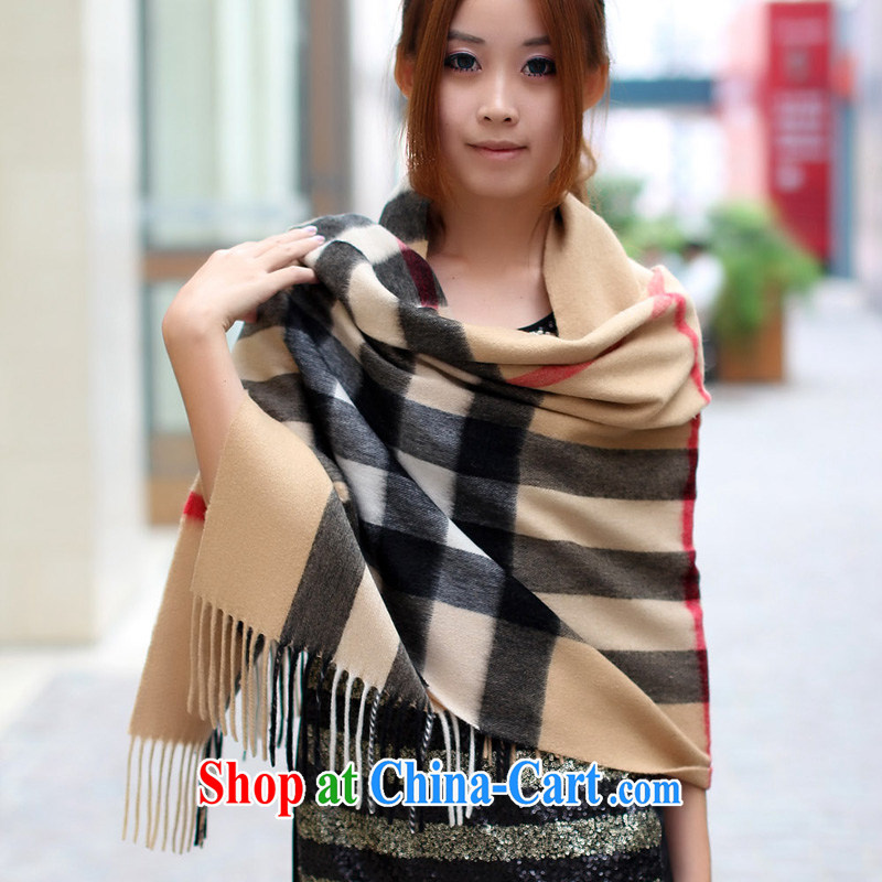Stylish tartan cashmere shawls scarf thick cashmere shawls English style grid 100 ground grid large grid