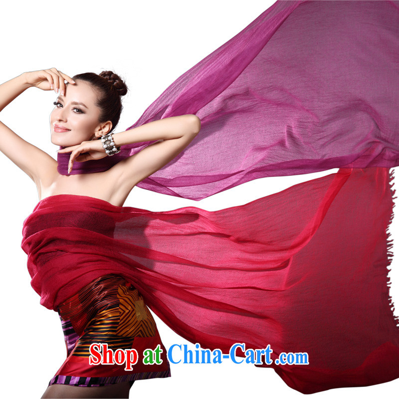 The AE Connie ZASN warm winter Solid Color shawl Ms. ultra-long national wind Pure cashmere scarf CY 011 wine red