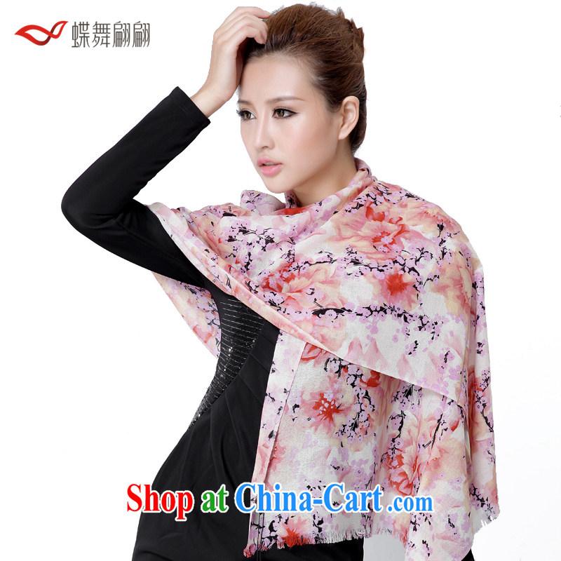 Butterfly Dance linger woolen scarf Girls fall/winter long Australian import woolen shawl warm scarf pink