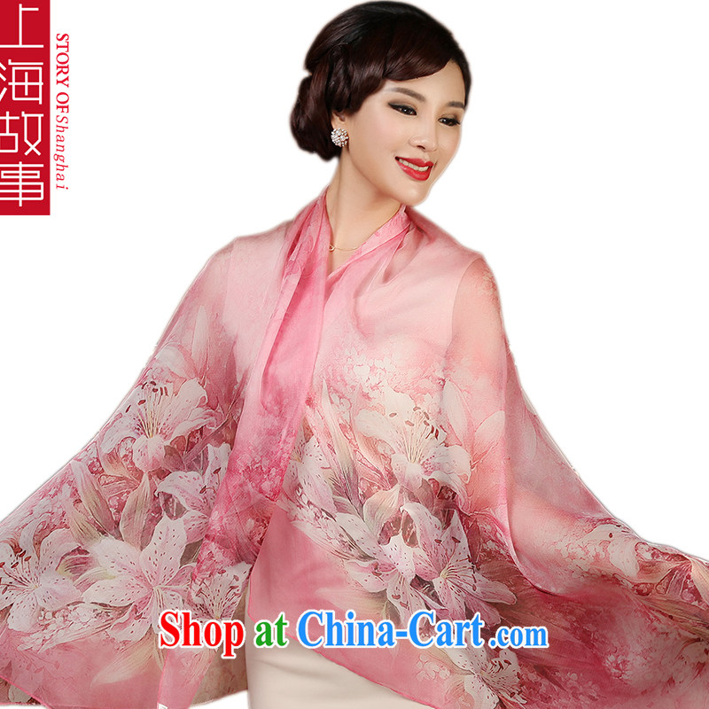 Shanghai Story silk silk scarf, mulberry silk scarf shawl spring long muslin square dream 100, pink