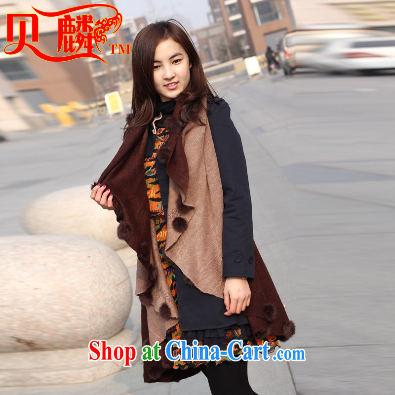 Mr David CHU Addis Ababa scarf girl winter cashmere shawls female 100 ground scarf winter Christmas gifts and color 110 #