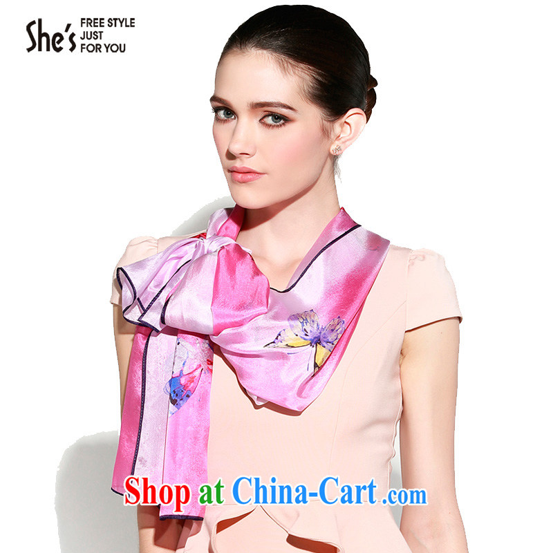 shes sin the original butterfly design 100 _ sauna silk long silk scarf silk scarves scarves SSL 9609149 A0 code