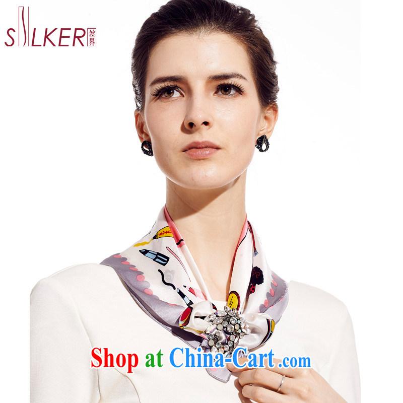 silk industry 100% dos santos Ms. silk silk silk scarf scarf stylish 100, ground cloth dream pink