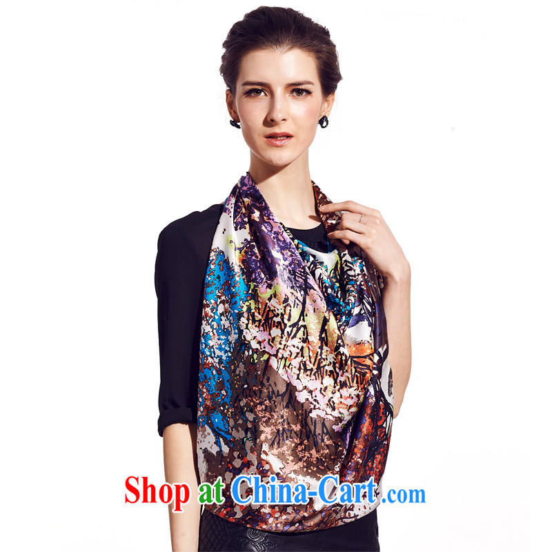 silk industry SIGI silk painting silk scarf scarf new gift and classy towel  magic color dream blue 13c9a6b9a0da7