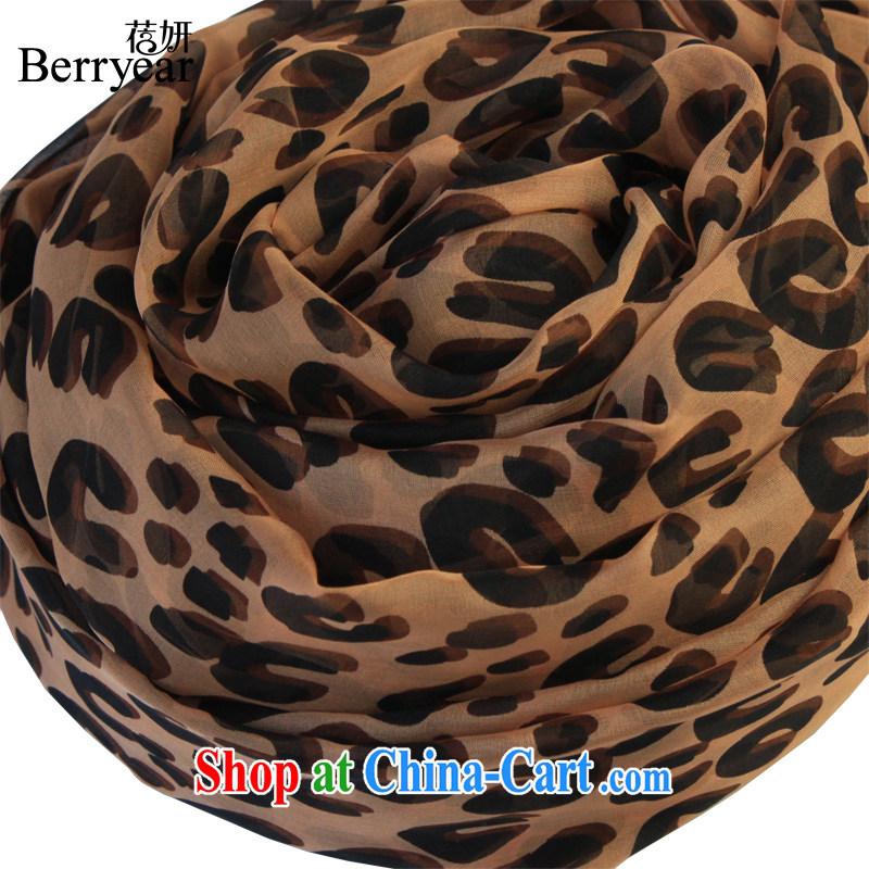 Europe Berryear stylish silk Leopard scarf upscale sauna silk long silk scarf silk leopard print silk scarf 200 _ 130 CM