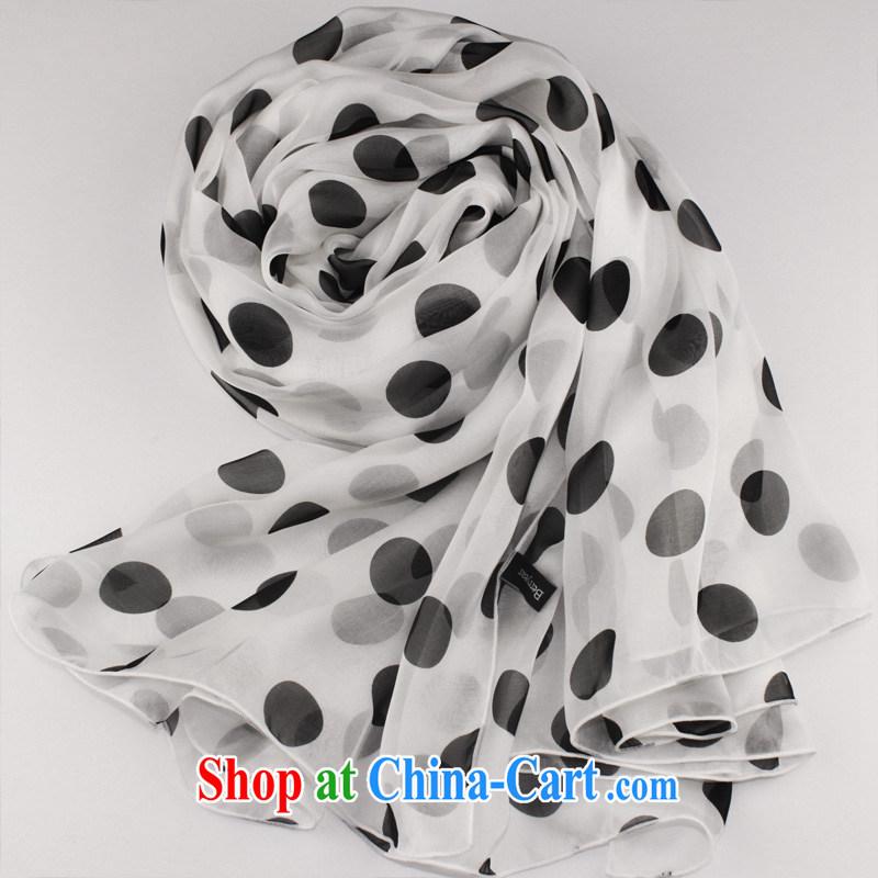 Hangzhou Berryear large white wave point silk silk scarf dos santos Ms. silk scarf long silk scarf spring silk scarves dreams, White Water wave is 250 * 130 CM, Berryear, online shopping