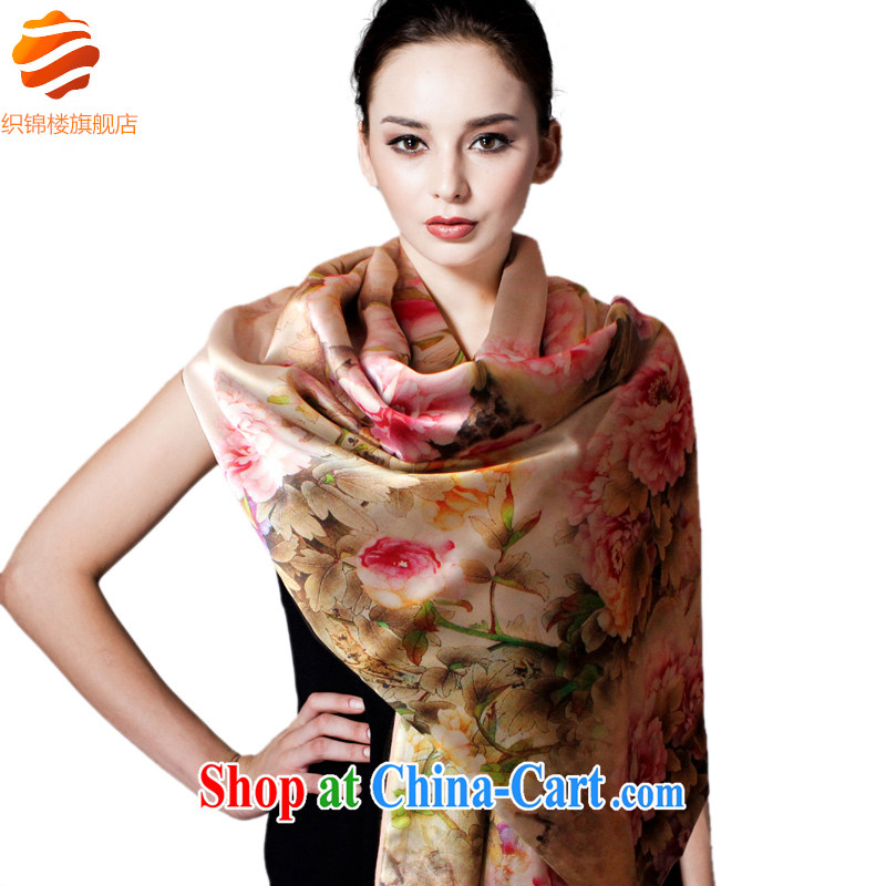 Tapestries floor flagship store sauna silk silk brushed double shawl silk scarf scarf air-conditioned female, Spring and Autumn and upscale gift Royal Yi Peony