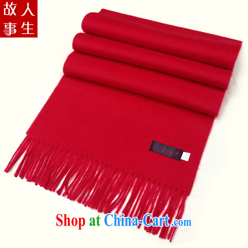 Quality Assurance high quality Cashmere scarf men, universal scarf this year Red Scarf monochrome thick scarf red 31 CM _ 190 CM