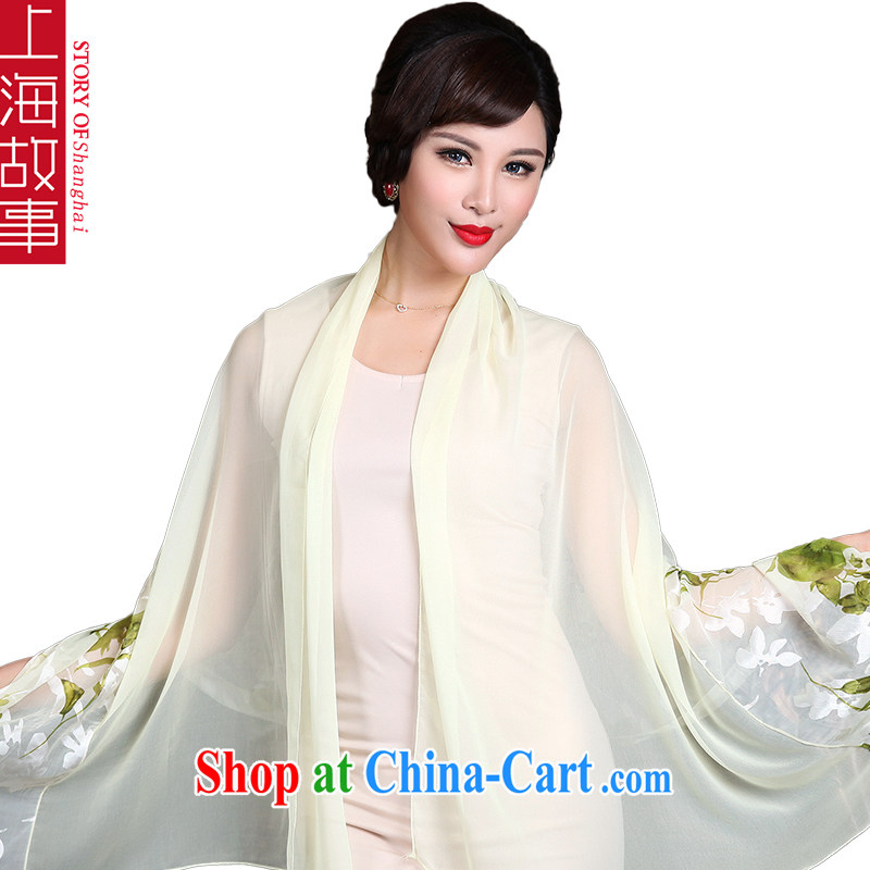 Shanghai Story emulation, silk scarf, snow-woven scarf Air Conditioning shawl sunscreen muslin square 5 _Ambilight