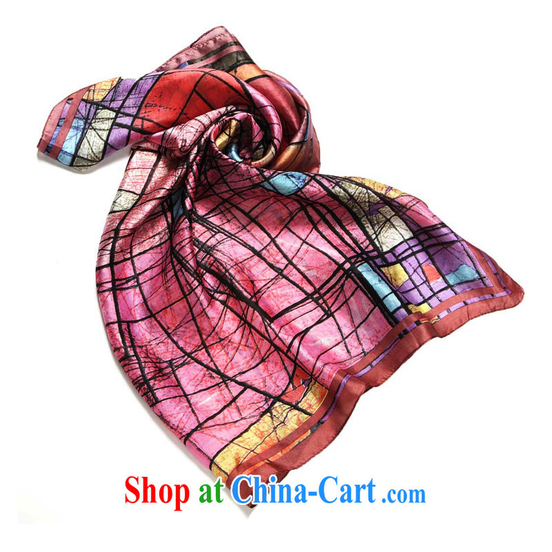 That is, constant source Cheung 2015 colorful paintings silk silk scarf sauna, the classy scarf 100_ silk sauna and beach scarf scarf, shade 90 _ 90 _long _ cm_