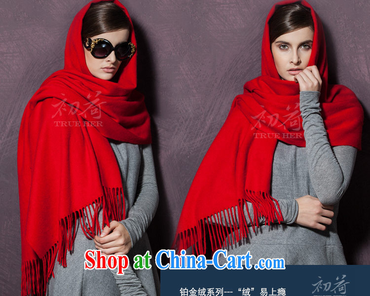 I should be grateful if you early Trueher shawl high-end plain pashmina shawl, Ms. autumn and winter thick Cashmere scarf long pure wine red pictures, price, brand platters! Elections are good character, the national distribution, so why buy now enjoy more preferential! Health