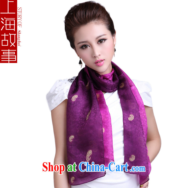 Shanghai Story sauna silk scarf gradient cashew silk silk scarf girls long shawls two with a purple gradient