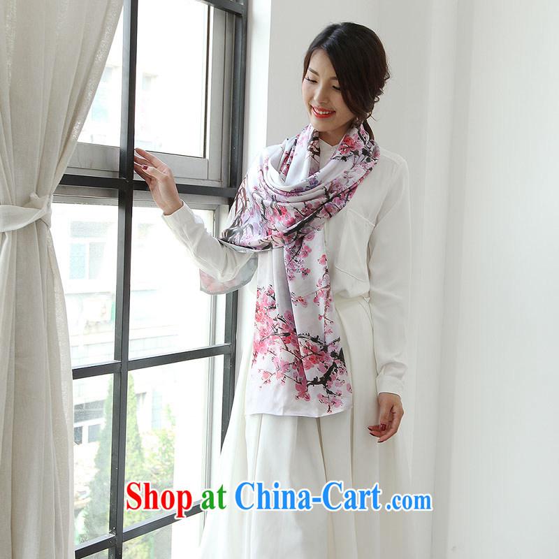 Silk romance summer 2014 100 % sauna silk, silk scarf more Spring Creek double silk long scarf suit 03