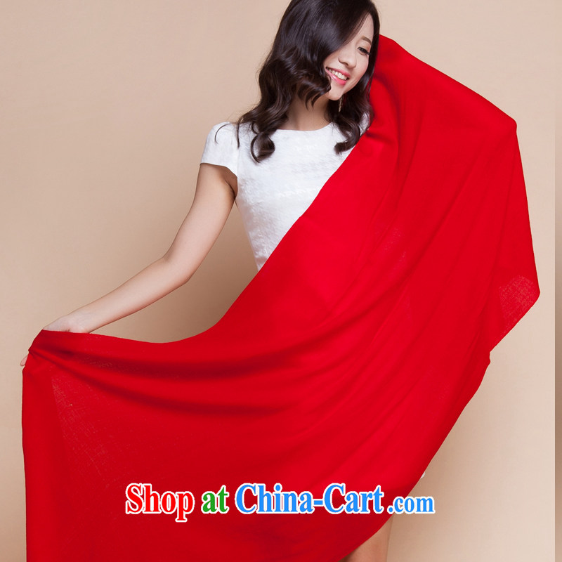 Shanghai Story stylish long Solid Color wool scarf shawl pure love pure love - red are code