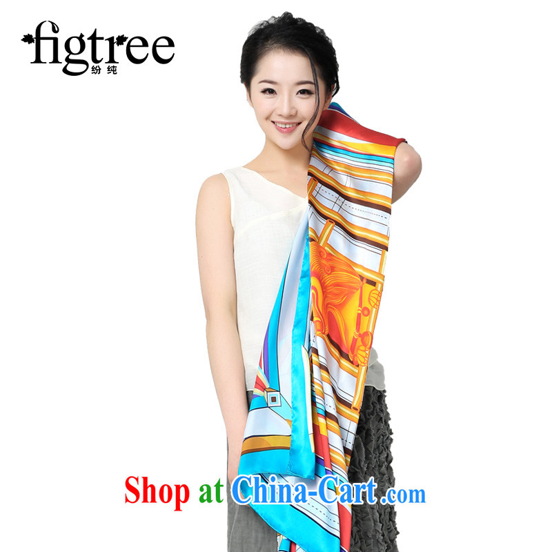 As well as pure spring and summer new sauna silk silk scarves women 100 to ground and stylish summer Korean high long silk scarf pound the blue