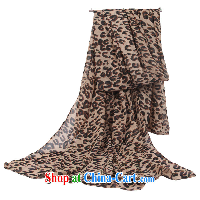 The World card silk scarf women in Europe and the Leopard scarf sunscreen silk scarf oversize shawl personalized leopard print long scarf outdoor beach towels coffee