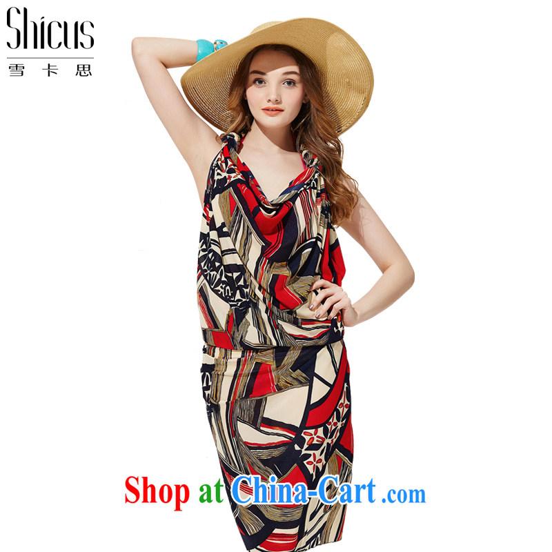 Snow-card, summer sun silk scarf large PHI yarn beach towels bikini wrapped yarn of yarn yarn stylish shawl long muslin square hood shirt wrapped skirt scarf style - Red - 1