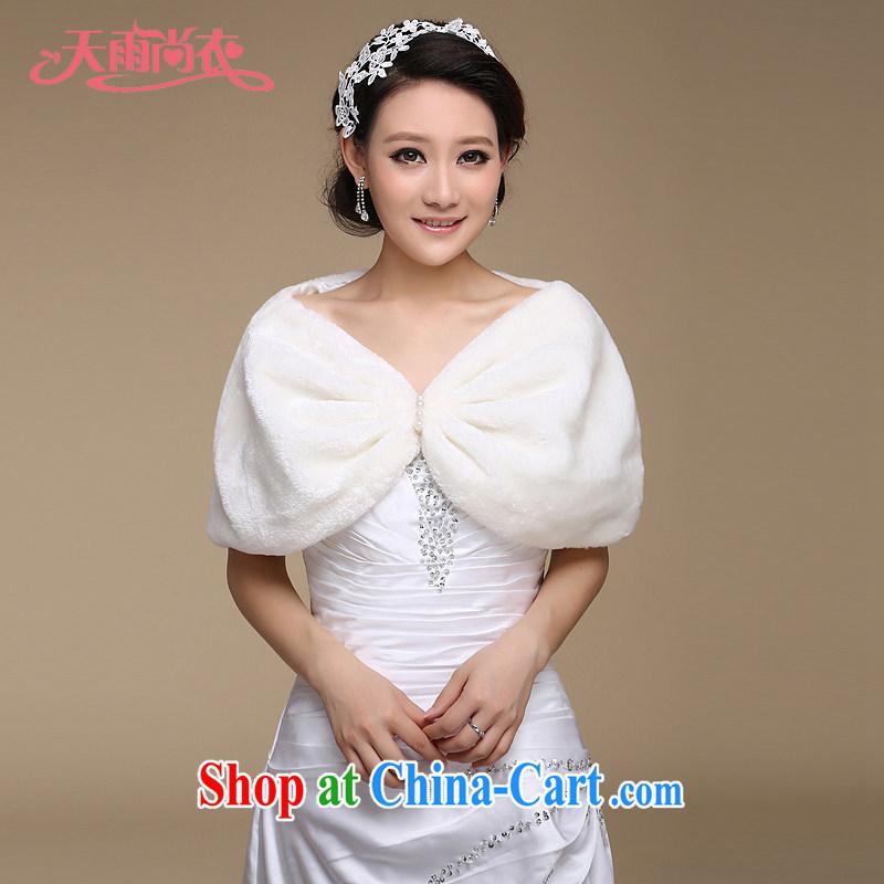 Rain is still clothing bridal wedding jacket Winter Sweater shawl fall/winter velvet shawl short hair kit also married her shawl shawl PJ 023m White