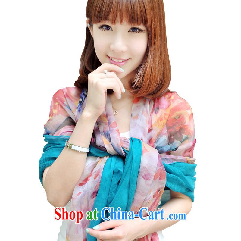 Nam-soo, bilingual L _A 2015 silk silk scarf, long, large sauna silk scarf shawl with two 851 SP L