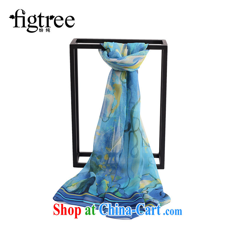 As pure silk silk scarf shawl scarf with two female 100% sauna silk long, population and social original China wind the Brahimi the murals purple