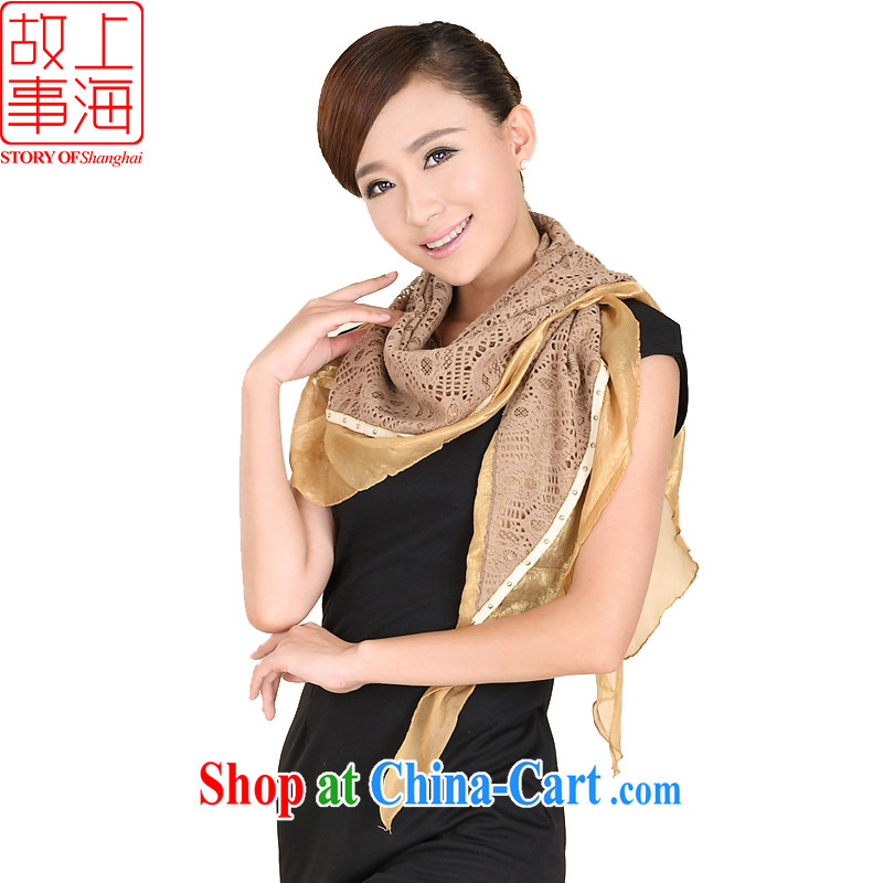 Shanghai Story dos santos Ms. silk sunscreen silk scarf beach towels and trendy slice 3 corner scarf shawl 149,069 card its color