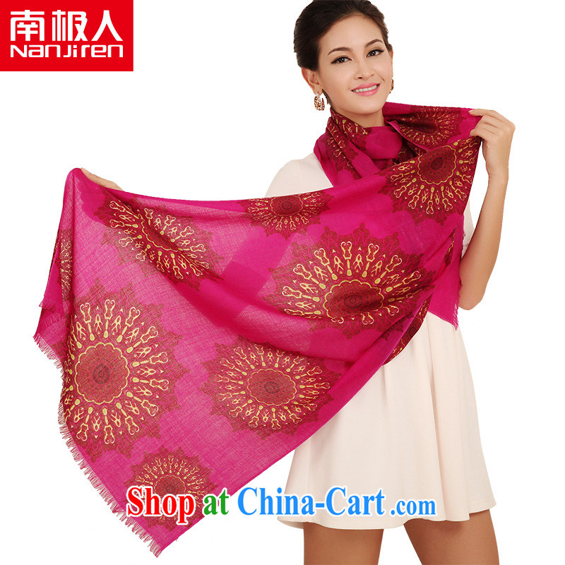 Antarctic _Nanjiren_ wool scarf Korean autumn and winter thick embossed scarf shawl scarf with two _1
