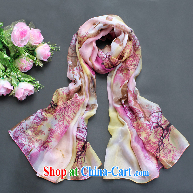 The Li, the high snow spinning towel scarf shawl two long ultra-large silk scarf muslin square female beach towels high-end silk scarf maple paintings X 203