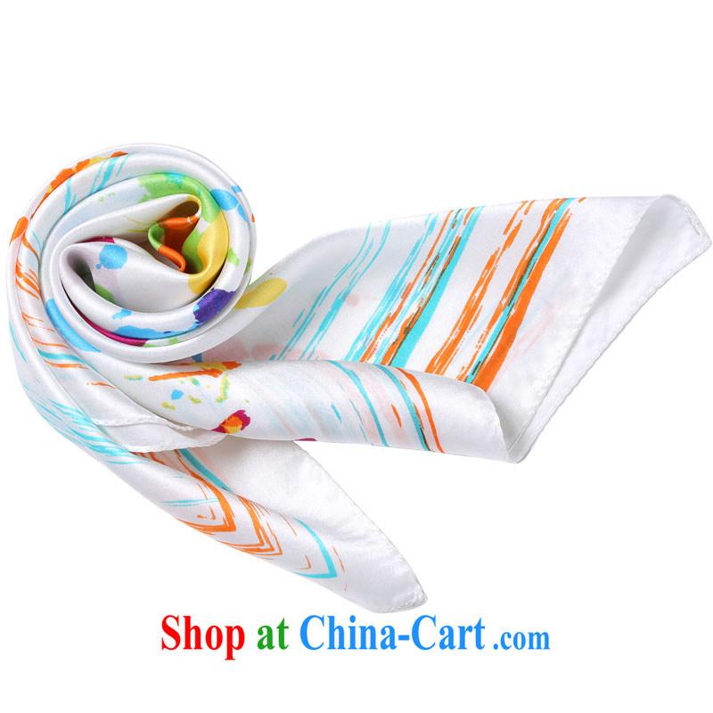 colored silk impression 100% sauna silk silk scarf Jurchen silk scarf butterfly pattern professional small party napkins white fingerprints 9