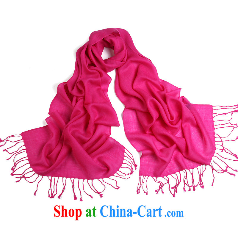 The Arctic lint-free fall and winter version won 100 to a solid color wool scarf, air-conditioning shawl two ultra-long natural and pure long, the red